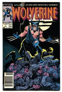Wolverine #1 comic book First Issue-1988-marvel- VF