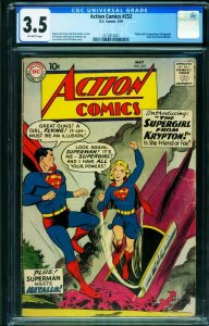 Action #252 CGC 3.5 First Supergirl key issue-dc Silver-age Superman 2112813001