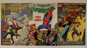 Amazing Spiderman lot! 74 Silvermane, 68 Kingpin, 110 1st Gibbon appearance!!