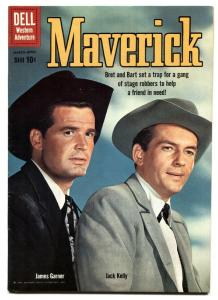 Maverick #9 1960- Dell TV Western- James Garner- Jack Kelly VF-