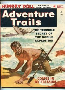 ADVENTURE TRAILS #1-JAN 1957-CHEESECAKE-KINSTLER SOUTHERN STATES PEDIGREE-vf