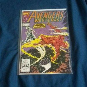 Marvel The West Coast Avengers #63 (Oct,1990)