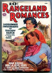 Rangeland Romances Pulp June 1938- Cliff Farrell- LP Holmes FN-