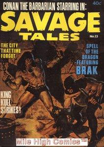 SAVAGE TALES (1971 Series)  (MARVEL/CURTIS) (CONAN) #13 AUSTRALIA Fine