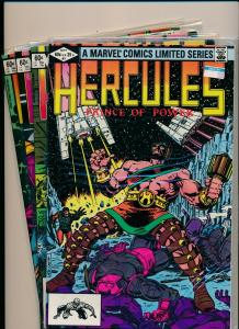 Marvel Comics Mini Series of 4-HERCULES PRINCE OF POWER #1-#4 F/VF 1982 (PF470)