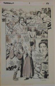 THOMAS YEATES original art, TOMAHAWK #1, Pg 54, 11x17, Tom, Signed, Vertigo