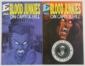 Blood Junkies on Capitol Hill #1-2 complete series - eternity comics set lot