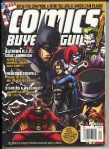 Comics Buyer's Guide #1650 2009-Batman & DC characters-comic info & price guide-