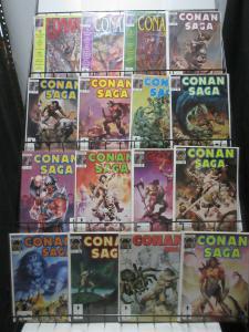 Conan Saga Mini-Library Lot of 35Diff from #2-91 Savage Barbarian Adventures!