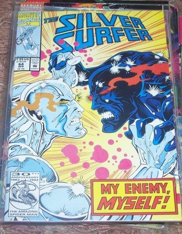 Silver Surfer #64 (Mar 1992, Marvel) captain marvel  pt 4