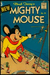 Mighty Mouse #70 1956- Circus cover- Pines Comics VG
