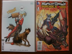 2 DC Comics HARLEY QUINN Comic Book: #52 (Variant) & APRIL FOOL'S SPECIAL #1