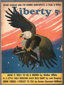 Liberty 7/9/1938-pulp fiction-American eagle cover-Feeling Like A Negro-FR