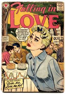 FALLING IN LOVE #11 comic book 1957-DC ROMANCE COMICS-CAKE SALE