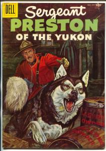 Sergeant Preston Of The Yukon #17 1956-Dell-Yukon King-RCMP-painted cover-FN