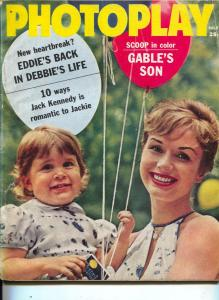 Photoplay-Debbie Reynolds-Clark Gable-Eddie Fisher-July-1961