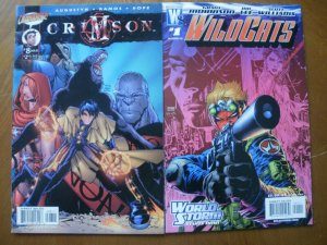2 Comic-Cliffhanger CRIMSON #8 (1999) & Wildstorm WILDCATS #1 (2006) World Storm