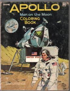 Apollo Man On The Moon Coloring Book #4566 1969-NASA-G/VG