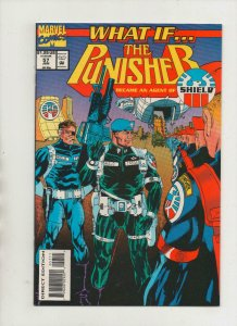 WHAT IF #57, VF/NM, Punisher work for Shield, 1989 1994, Marvel