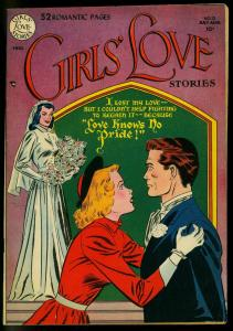 Girls' Love #12 1951- Bride cover- Wedding- DC Comics- FN-