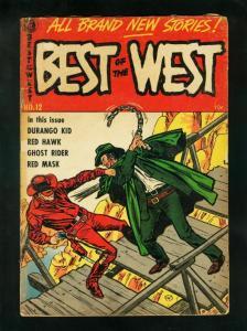 BEST OF THE WEST #12 1954-GHOST RIDER-RED HAWK-DURANGO KID-good G