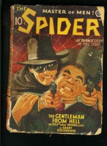SPIDER 3/42-GENTLEMAN FROM HELL-ED RACE STORY-STOCKBRIDGE-low grade reading G