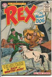 ADVENTURES OF REX THE WONDER DOG  #22 1955-DC-WWII-NAZIS-vg/fn
