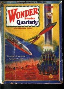WONDER STORIES QUARTERLY 1932 SUMMER-SCI-FI PULP-RARE G