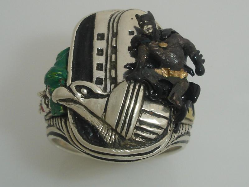 Batman Joker ring sterling silver