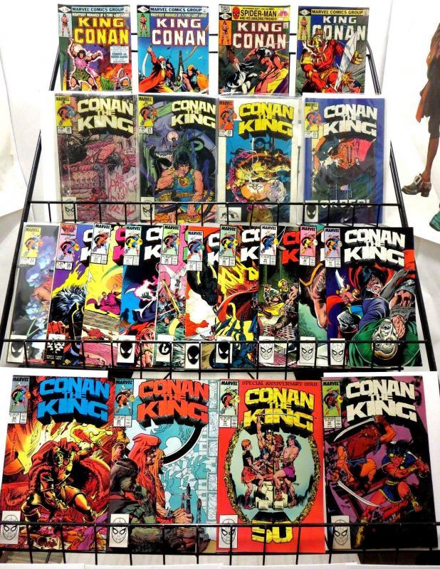 KING CONAN/CONAN THE KING #s 4 7-8 11 20-24 36 40-50 52 | 22 comics 1982-9 F-VF+