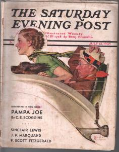 Saturday Evening Post  7/13/1935-Norman Rockwell cover-complete magazine-VG
