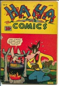 Ha Ha #9 1944-ACG-cannibalism cover-Ken Hultgren-WWII era-G