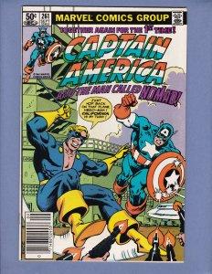 Captain America #261 VF Nomad Appearance Marvel 1981