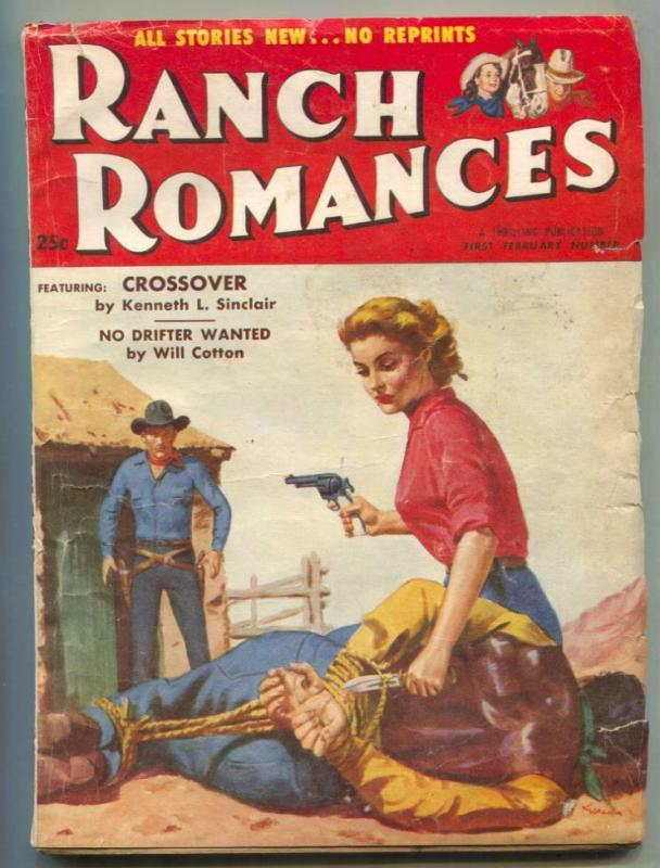 Ranch Romances Pulp 1st February 1956- Crossover / HipComic