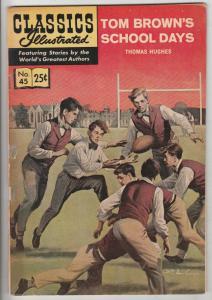 Classics Illustrated #45 (Jan-68) FN/VF Mid-High-Grade Tom Brown