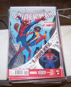 Amazing Spider-Man #  7( 2014, Marvel)   edge of spider-verse +ms marvel silk
