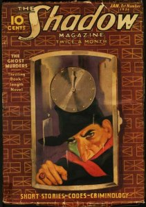 SHADOW 1936 JAN 1-STREET AND SMITH PULP-RARE G-