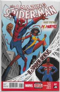 Amazing Spider-Man (vol. 3, 2014) # 7 VF (Edge of Spider-Verse 7) Ms. Marvel