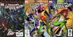 SECRET INVASION AMAZING SPIDERMAN (2008) 1-3 COMICS BOOK