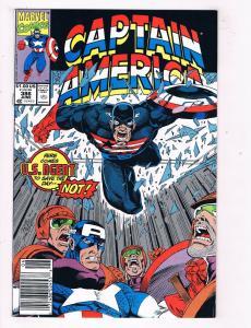 Captain America #386 VF Marvel Comics Comic Book Avengers Jun 1991 DE44