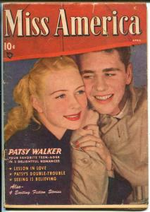 Miss America Vol 7 #9 1948-Marvel-photo cover-Patsy Walker-Millie the Model-GOOD