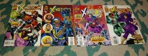 X  NATION 2099 #  2 3 4 6 1988 MARVEL X MEN FUTURE NEW  MUTANTS