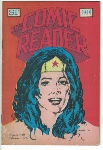 Comic Reader #140 VG wonder woman - pre-dates 1st app of Shade the Changing Man