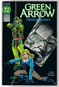 GREEN ARROW #59, NM-, Mike Grell, Predator, 1988, more in store