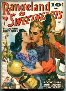 Rangeland Sweethearts Pulp April 1941- Art Lawson- Last issue rare western VG