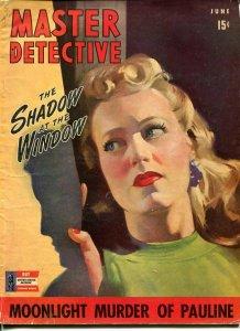 MASTER DETECTIVE--JUNE 1942-G-FAR STUDIOS COVER-MURDER-ASSASSIN- G/VG