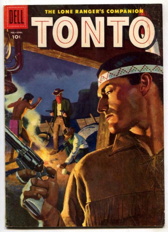 Tonto #22 1956-Dell Western-Lone Ranger's companion VG