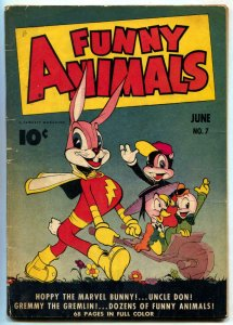 Funny Animals #7 1943-Hoppy The Marvel Bunny-Golden Age VG-
