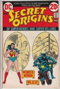 Secret Origins #3 (Aug-73) VF High-Grade Wonder Woman, Wildcat