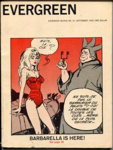 Evergreen Review #37 1965- 1st US Barbarella appearance VG